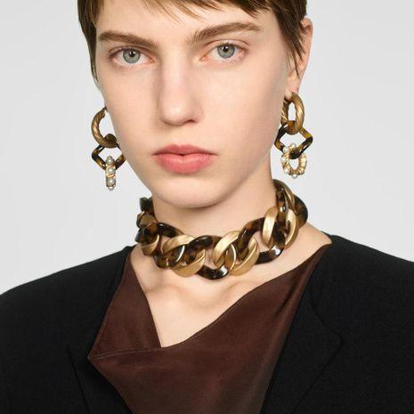 Aleación de acrílico collar joyería collar de moda collar creativo accesorios mujeres NHMD185016's discount tags