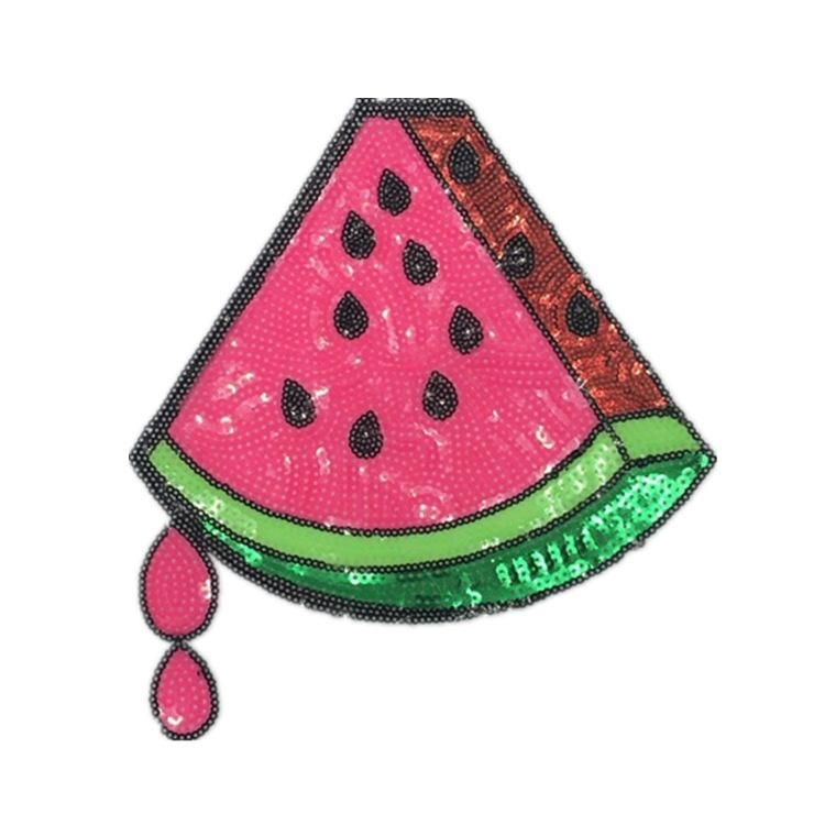 Boutique watermelon sequin cloth patch patch fruit beads embroidery chapter large female T clothing diy accessories NHLT184805