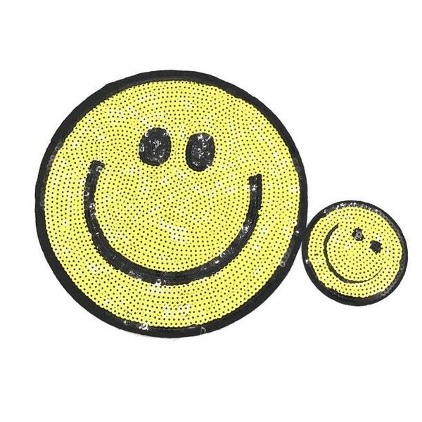 Small embroidered beads smiley cloth stickers sequins clothing decoration patches pants decoration accessories NHLT184818