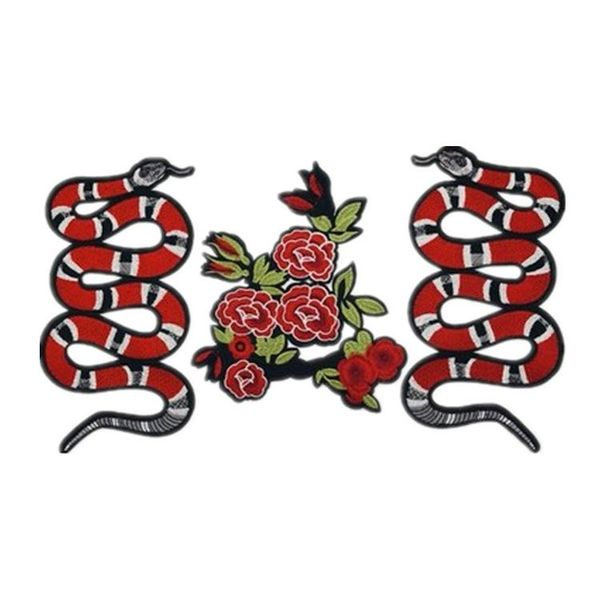 New embroidery animal snake DIY clothes patch cloth stickers clothing accessories large accessories embroidery stickers NHLT184830