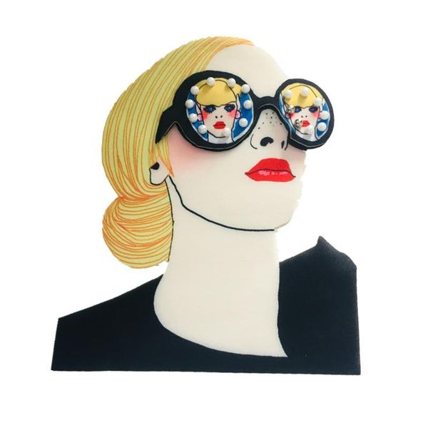 Printing glasses girl hot stamp printed cloth stickers heat transfer 3D clothing decoration accessories NHLT184885