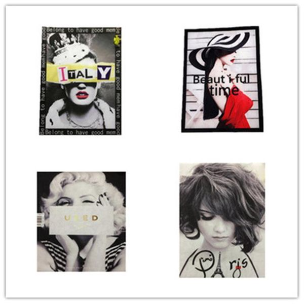 Fashion beauty figure collection print heat transfer heat transfer cloth stickers handmade DIY clothing decoration NHLT184890