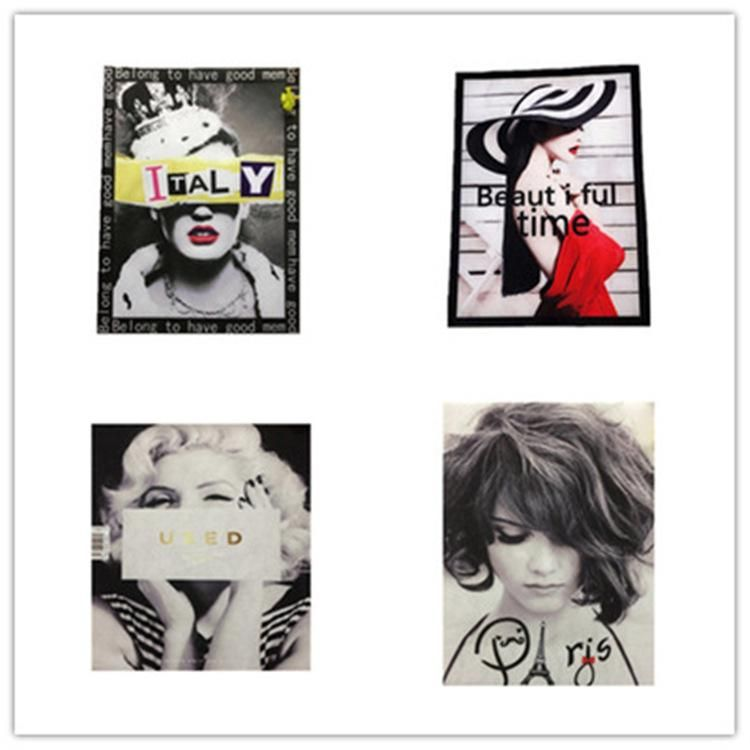 Fashion beauty figure collection print heat transfer heat transfer cloth stickers handmade DIY clothing decoration NHLT184890