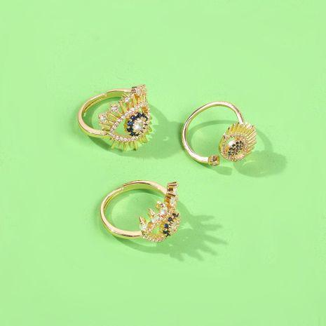 Anillo de ojo de diablo con diamantes de imitación de circonita abierta y diamantes NHMD185015's discount tags