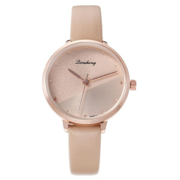 Watch ladies personality yin and yang face fashion rivet scale simple student belt watch NHHK184907