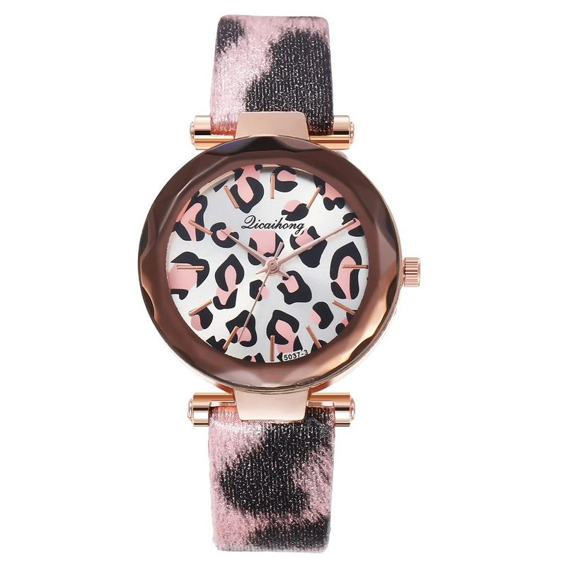 New watch ladies roman scale leopard print fashion ladies belt quartz watch wholesale NHHK184921