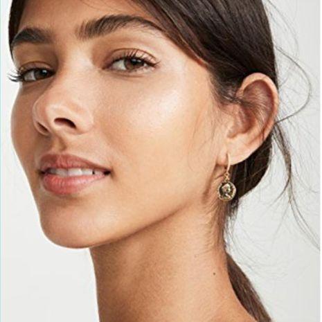 Nuevos modelos de explosión con textura  de moda pendientes retro ojos círculo pendientes salvajes pendientes mujeres NHMD184997's discount tags