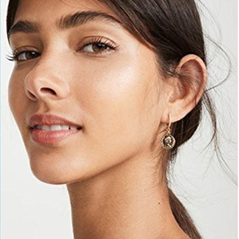 New fashion temperament explosion models earrings retro eyes circle earrings wild earrings women NHMD184997