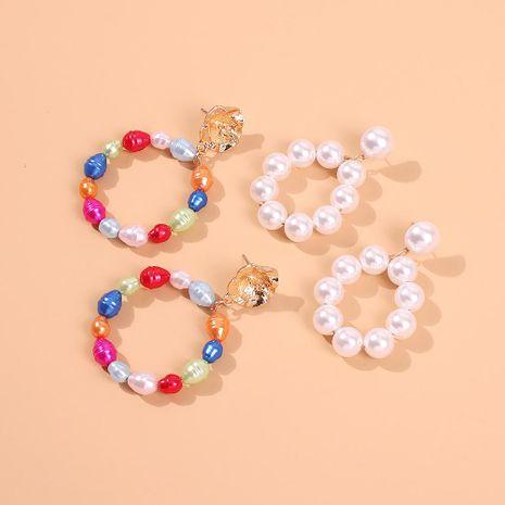 Pendientes de perlas europeas y americanas Pendientes de perlas de anillo exagerado NHMD184999's discount tags