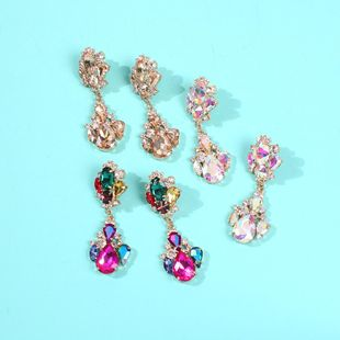 Exaggerated Earrings Colored Vintage Colored Diamond Earrings NHMD185001's discount tags