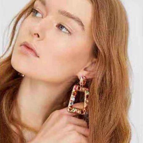 Diseño caliente sentido geométrico aretes de piedra de color aretes pendientes femeninos moda salvaje NHMD185012's discount tags