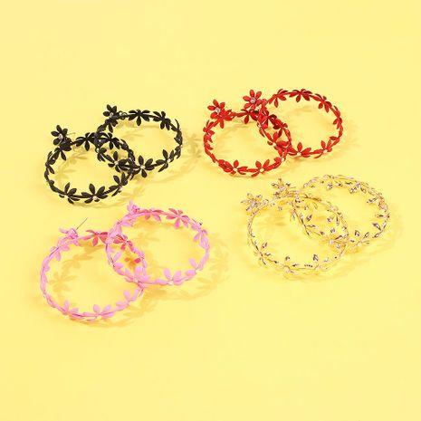 Aretes para mujer de diseño de moda nuevos pendientes de diamantes de imitación de flores NHMD185019's discount tags