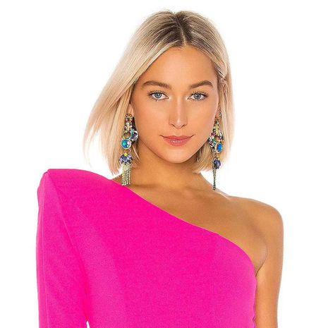 Aretes para mujer con textura 2019 nueva ola personalidad moda elegante pendientes largos NHMD184972's discount tags