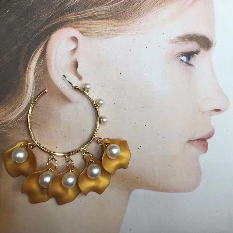 Pearl earrings 2019 new trendy wild fashion metal earrings NHMD184977