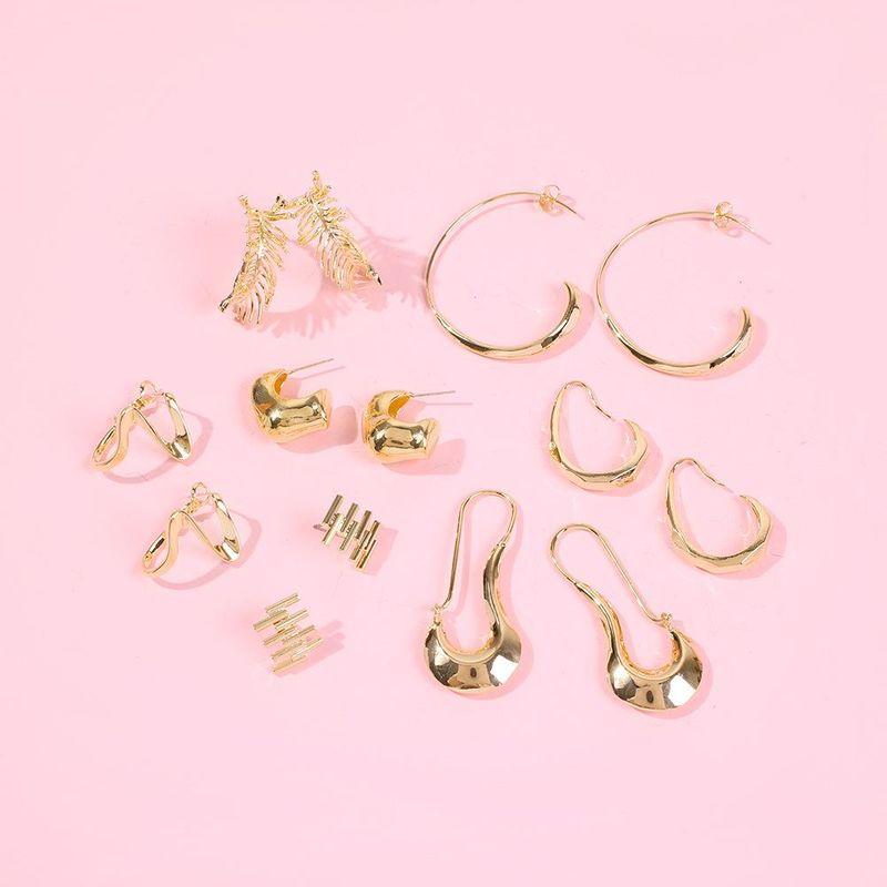 Aretes para mujer pequeños simples de temperamento caliente pendientes de plata esterlina pendientes nuevos de marea pendientes circulares NHMD184994