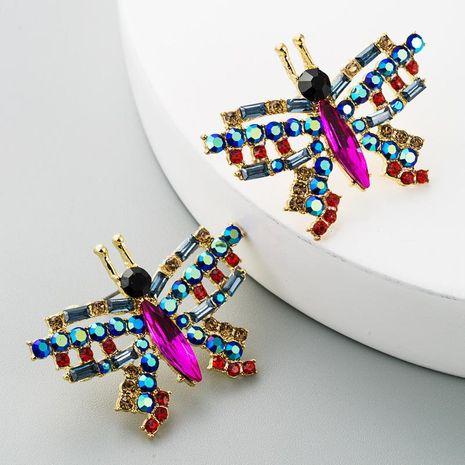 Rhinestone stud earrings temperament butterfly earrings female alloy diamond hot earrings NHLN184947's discount tags