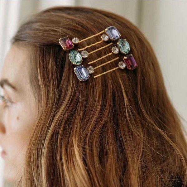 Full diamond hair clip word clip fashion wild combination hair clip girl NHMD185005