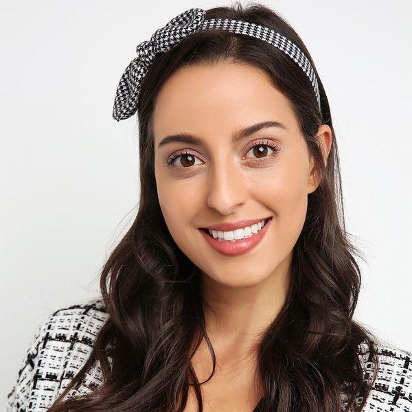 New bow headband hair reduction sweet age cute headband hairpin women NHMD184983