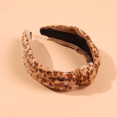 Diadema de leopardo de moda de felpa de otoño e invierno NHMD184991's discount tags