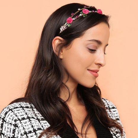 Accesorio para el cabello diadema de aleación de flores de aro de pelo de moda barroca NHMD184992's discount tags