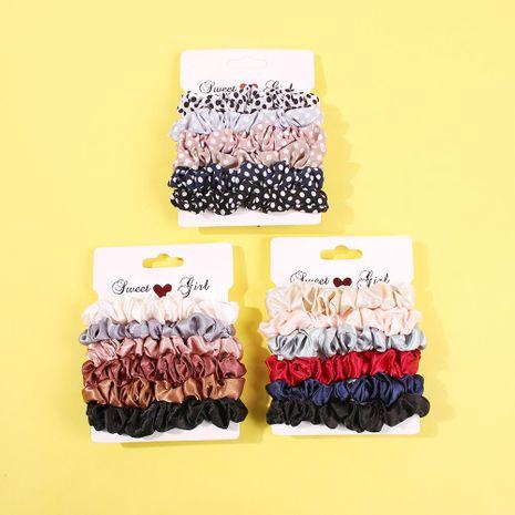 Cloth silk face black hair ring hair rope tied hair head rope NHMD184985's discount tags