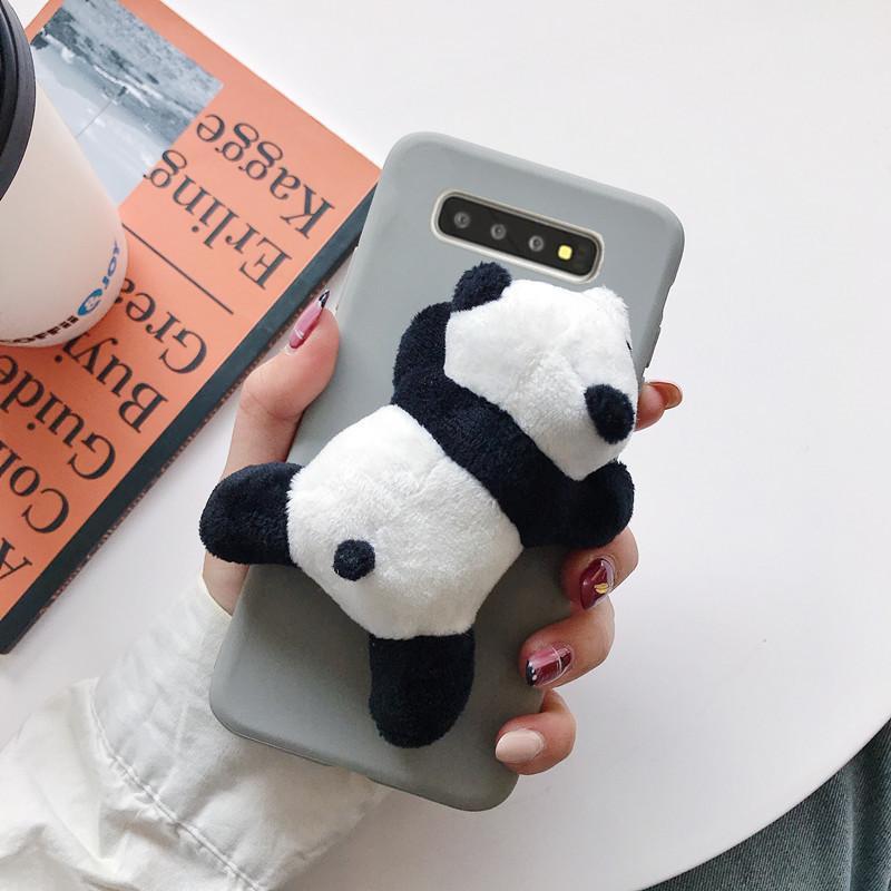 Plush panda doll Samsung note10 phone case NHHC184782