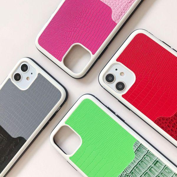 Contrast stitching iPhone 11promax phone case NHHC184784
