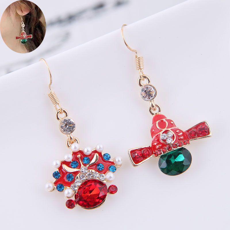 Exquisite Korean Fashion Metal Concise Peking Opera Huadan Facebook Personality Female Earrings NHSC185116