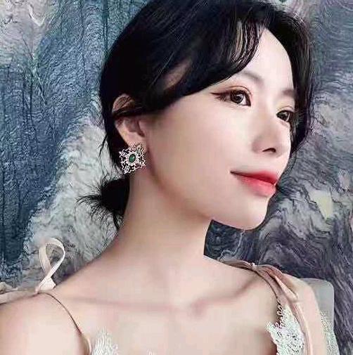 Exquisite Korean fashion sweet OL simple temperament fashion earrings NHSC185119