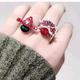 Exquisite Korean Fashion Metal Simple Peking Opera Huadan Facebook Personality Ring NHSC185115