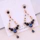 925 Silver Pin Korean Fashion Sweet OL Simple Flash Diamond Water Drop Temperament Earrings NHSC185118