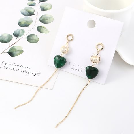 Long gold-plated fashion tassel wild care pearl S925 silver earrings NHPS185036's discount tags