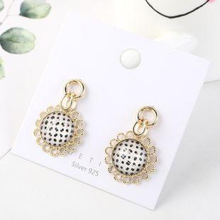 Korean fashion sunflower gold plated creative fresh S925 silver earrings NHPS185043's discount tags