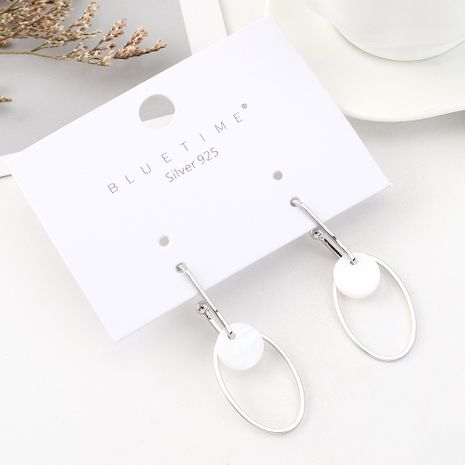 Korean version of the gold-plated wild fashion circle hollow S925 silver earrings NHPS185055's discount tags