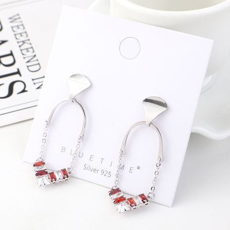Korean earrings gold plated wild fashion S925 silver earrings NHPS185059's discount tags