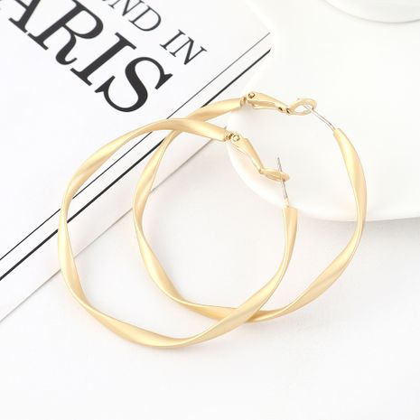 earrings wholesale real gold wild fashion irregular large circle hollow S925 silver earrings NHPS185066's discount tags