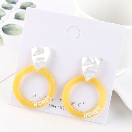 earrings wholesale fashion gold plated letters circle S925 silver earrings NHPS185070's discount tags