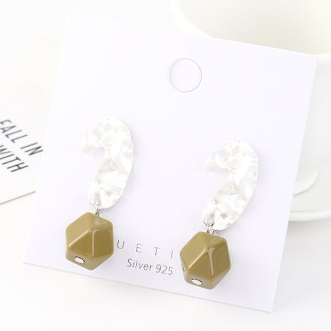 Fashion earrings wholesale real gold plated resin S925 silver earrings wholesale NHPS185074's discount tags