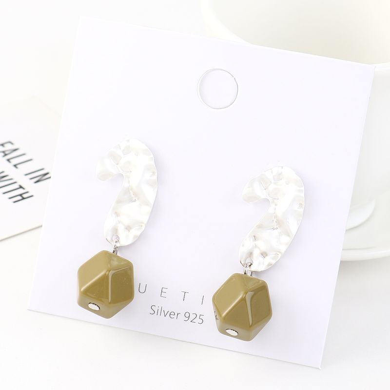 Fashion earrings wholesale real gold plated resin S925 silver earrings wholesale NHPS185074