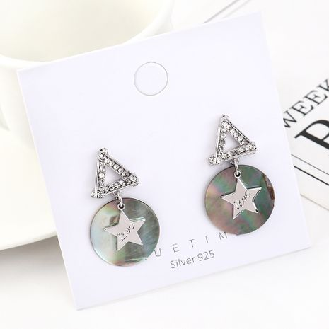 Fashion earrings wholesale real gold wild creative resin small stars S925 silver earrings NHPS185075's discount tags