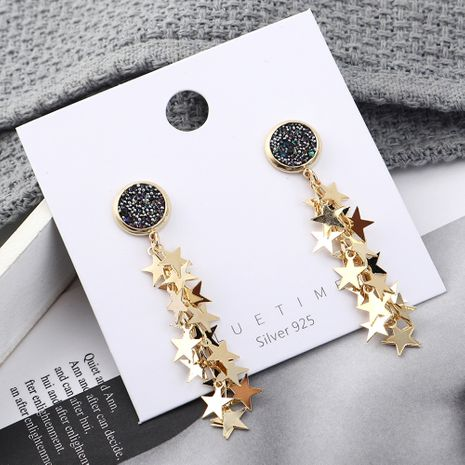 Fashion earrings wholesale fashion gold plated small five star S925 silver earrings NHPS185085's discount tags