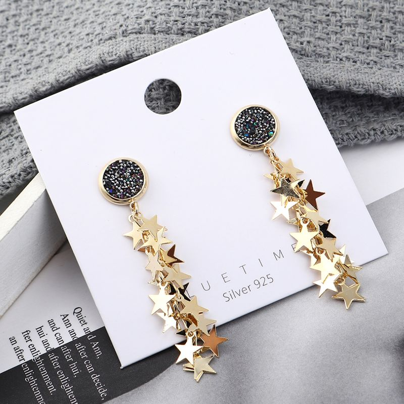 Fashion earrings wholesale fashion gold plated small five star S925 silver earrings NHPS185085