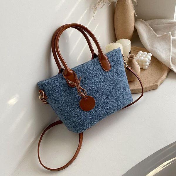 New Contrast Large-capacity Handbag Shoulder Bag Fashion Lambskin Crossbody Tote NHPB185131