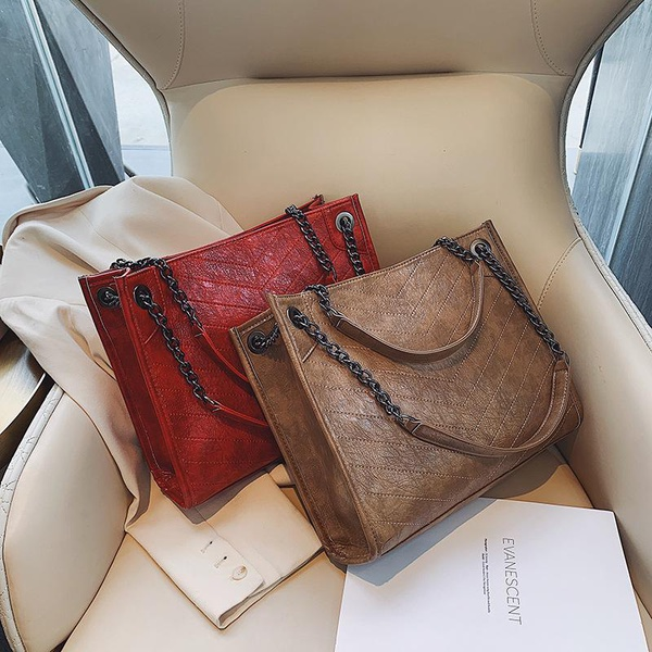 Winter new fashion large capacity chain handbag women solid color shoulder messenger bag NHPB185174