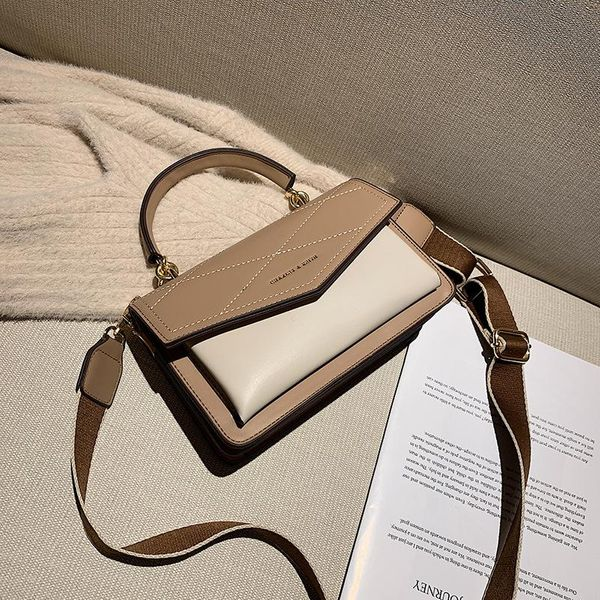 Wholesale bags women's new messenger bag wide shoulder strap fashion portable small square bag NHTC185298