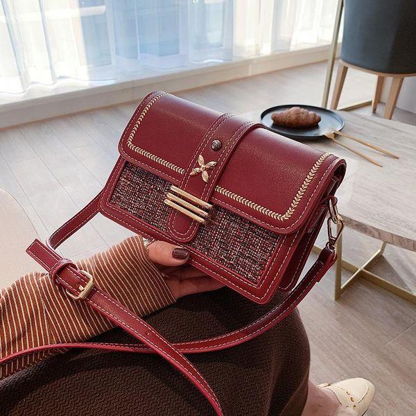 Winter small square bag wholesale Korean fashion wild simple shoulder messenger bag NHTC185299