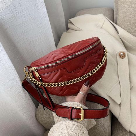 wholesale handbags winter new small bag small waist bag fashion simple one shoulder slung wild chest bag NHTC185301's discount tags