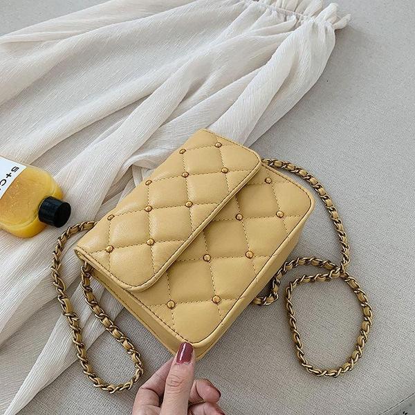 Wholesale bags women's new Korean shoulder messenger bag summer fashion rhombus chain small square bag NHTC185303