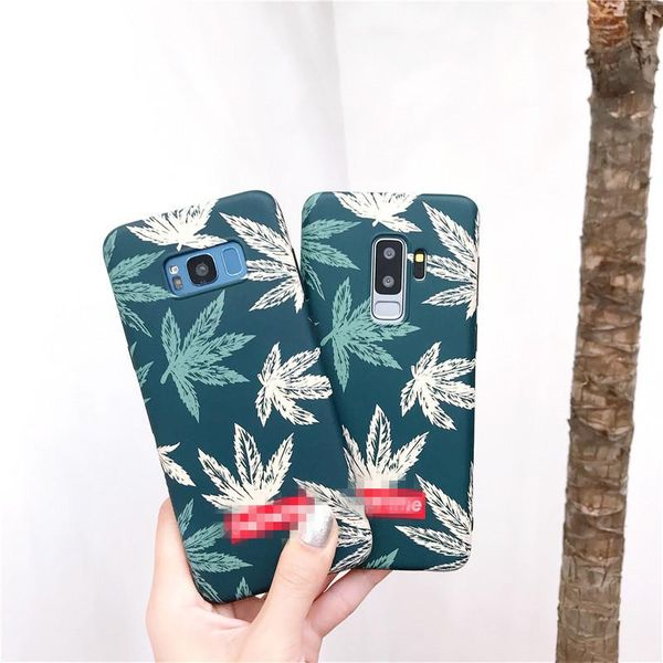 Tide brand maple leaf s9 Samsung s10plus mobile phone case NHHC184795