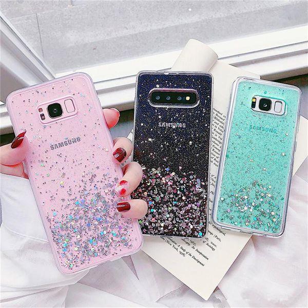 Funda para teléfono móvil Samsung s10plus con pegamento de lámina de oro NHHC184797
